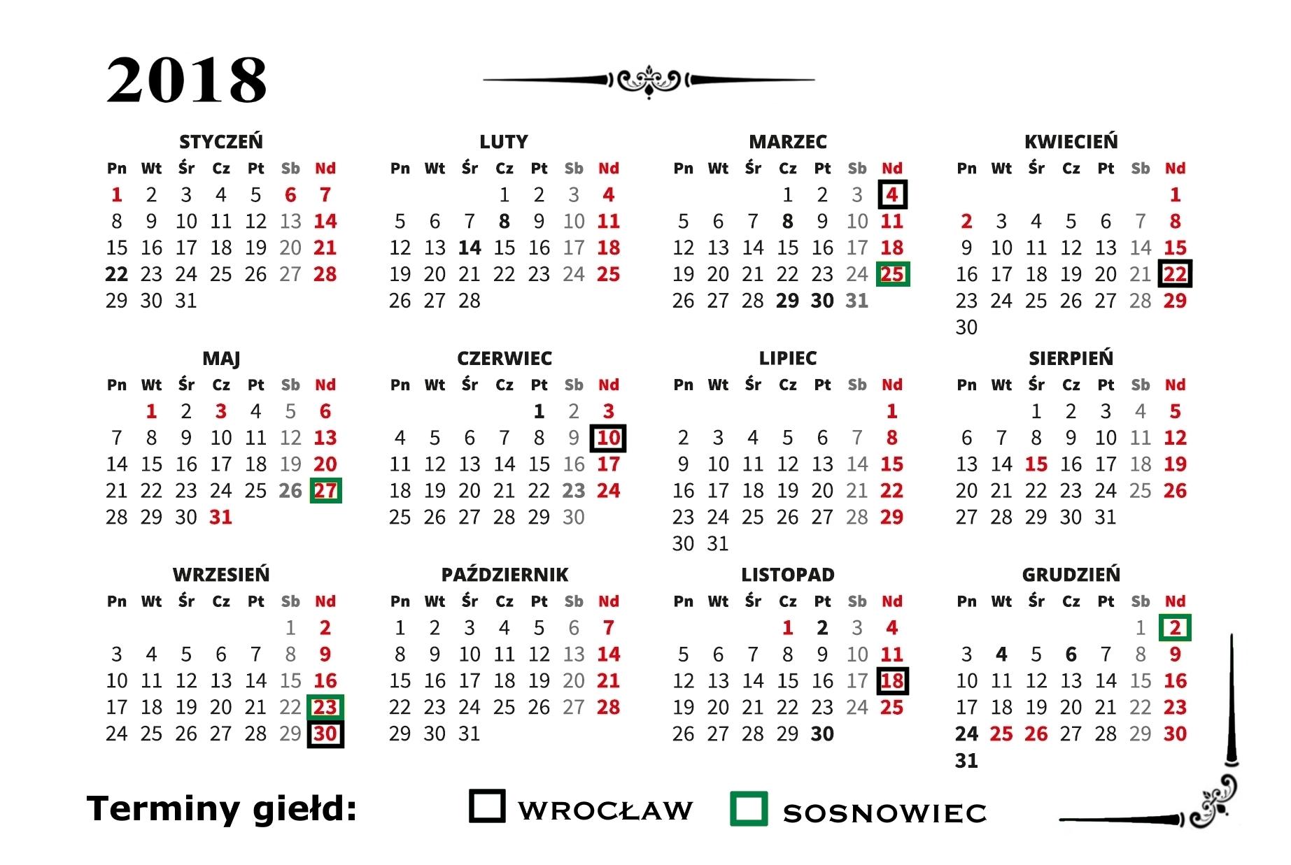 kalendarzyk_2018_terminy OldtimerbazaR'u 2018 rok