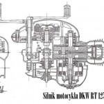 1940-41 RT 125 silnik