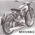 1954-55 RT 125-2H motocykl tył