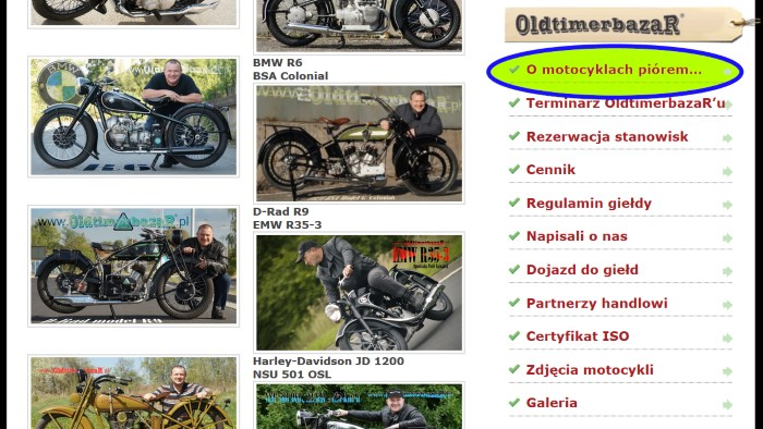 O motocyklach piórem...www