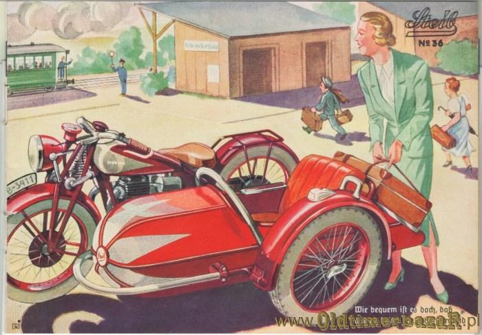 Steib - wózki, oferta z 1937 roku - prospekt produkcyjny