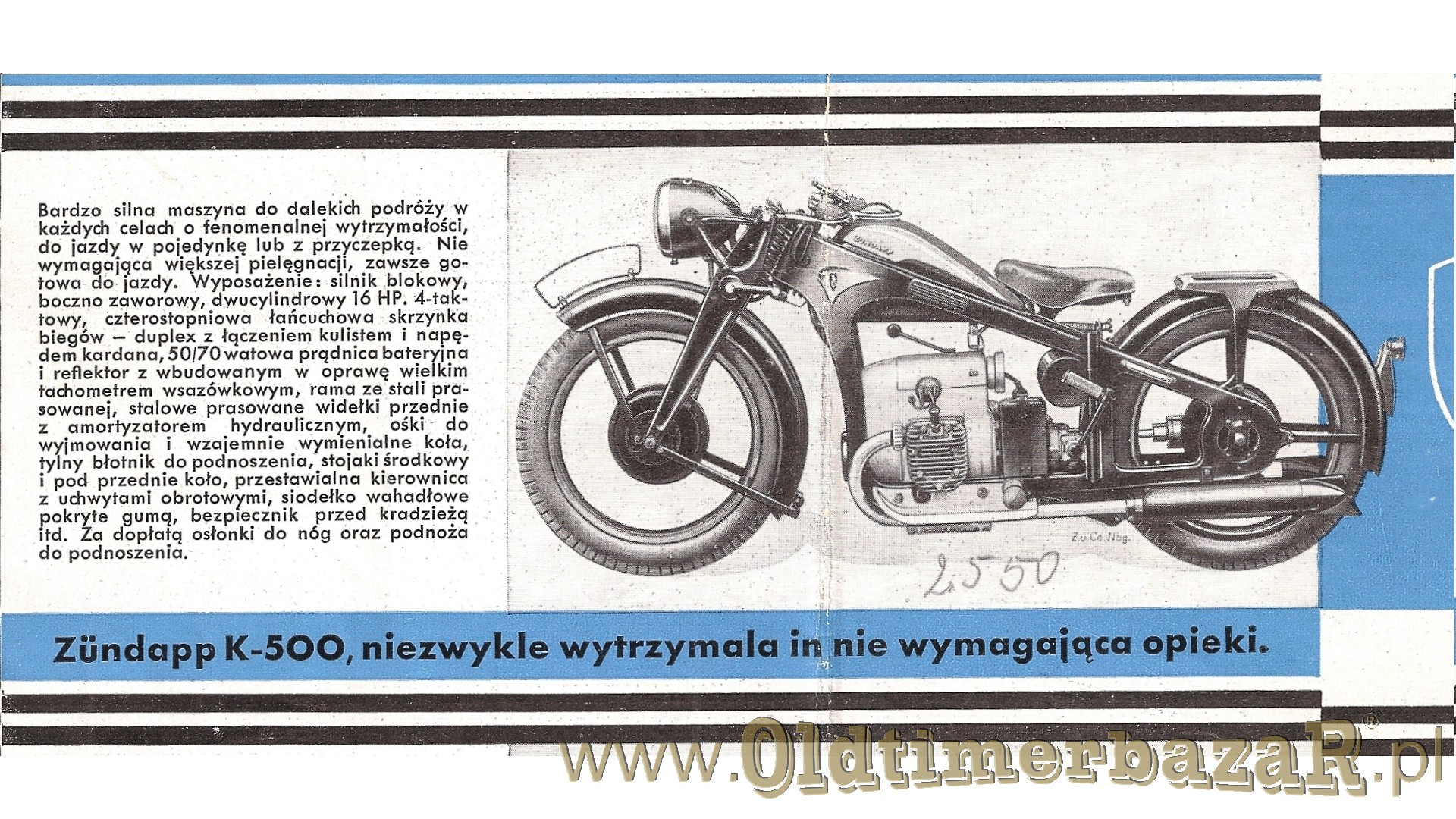 Zundapp prospekt 1938 foto 05 K500