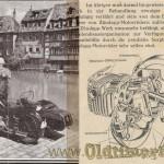 Zundapp prospekt 1938 foto 10 rozkładówka